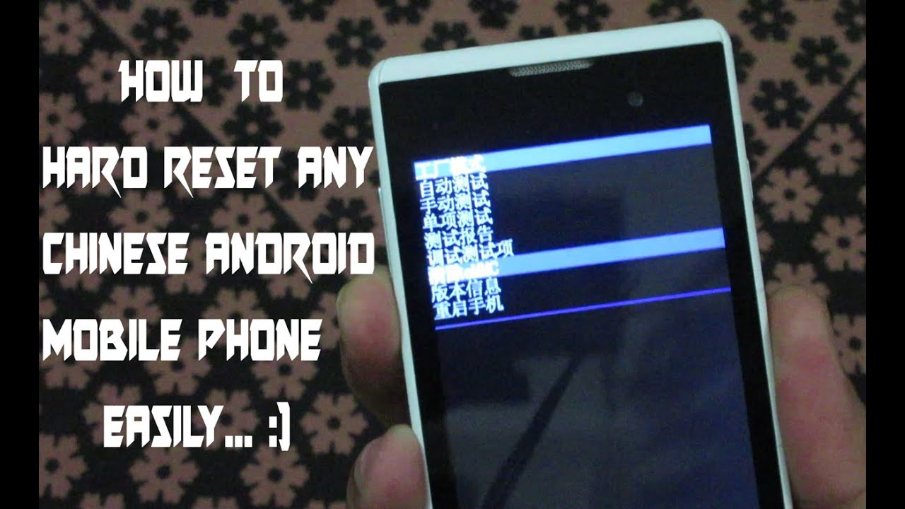 How to hard reset android phone, hard reset | How to hard reset chinese  android smart phone easily