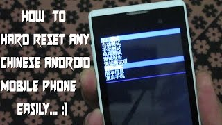 How to hard reset any chinese android phone easily 2017