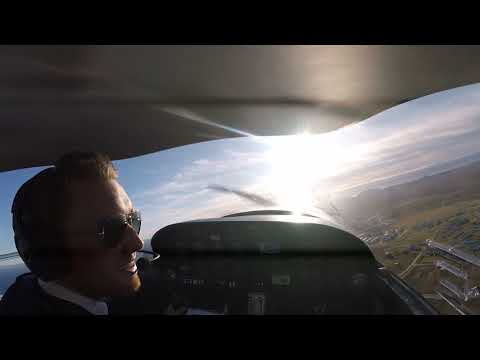 DA 20 First solo flight   - Keilir Iceland