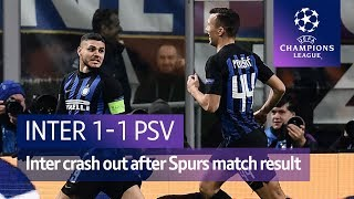 Inter Milan vs PSV (1-1) UEFA Champions League highlights