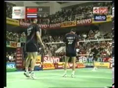 2003 Indonesia Open Badminton Sang Yang and Zheng Bo vs Pramote and Tesana Thailand