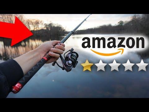 I Bought The WORST RATED Amazon Fishing Rod