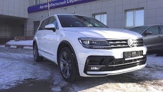 2018 Volkswagen Tiguan Sportline 220hp 2.0 TSI DSG 4Motion. Start Up, Engine, and In Depth Tour.