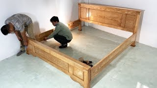 How To Building A Bed Extremely Simple and Beautiful - Skill Modern Woodworking