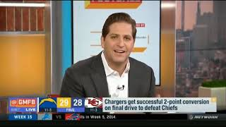Chargers get successful 2 point conversion on final drive to defeat Chiefs   GMFB