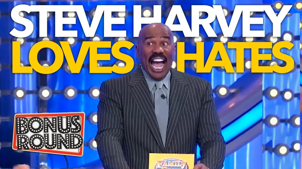 STEVE HARVEY LOVES, HATES AND LIKES! Funny Answers & Moments on Family Feud