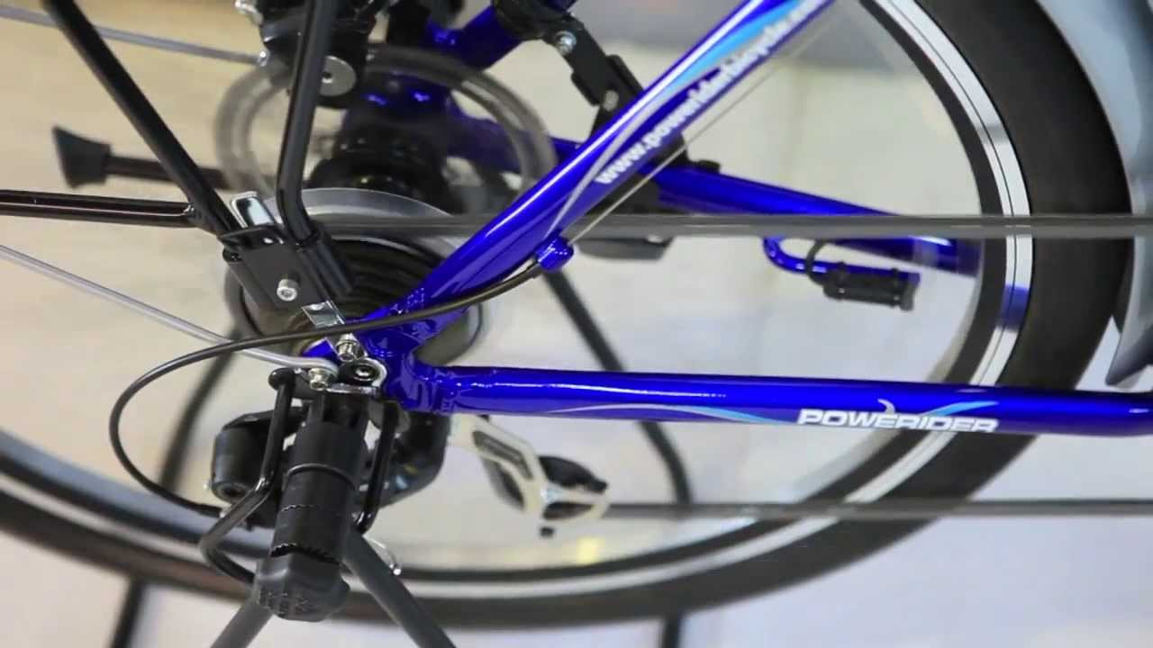 Powerider Electric Bicycle With Central Crank Motor System Youtube