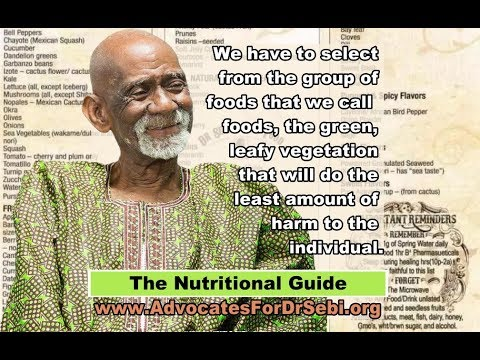 The Nutritional Guide – Advocates for Dr  Sebi