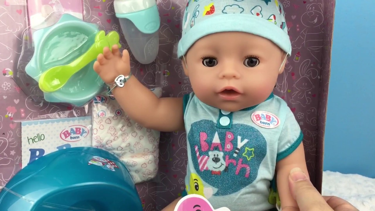 New Baby Born Soft Touch Boy Doll Opening Youtube