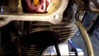 Oakys Garage: 1966 Black Bomber CB450 Engine out of frame