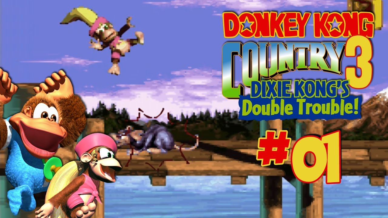 Let's Play Together Donkey Kong Country 3 #01 - Game Over ...