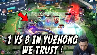 THE REAL IN YUZHONG WE TRUST !!! KEKUATAN SKIN BARU ! NAGA NGAMUK 1 VS 8 RATA SEMUA BOY !!!