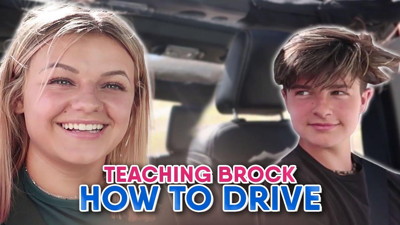 TEACHING BROCK HOW TO DRIVE MY JEEP || KESLEY JADE LEROY