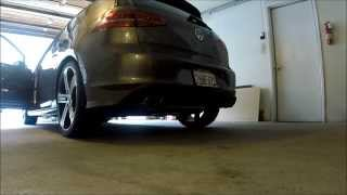 MK7 Golf R (US Version) Stock vs. Milltek non-resonated exhaust