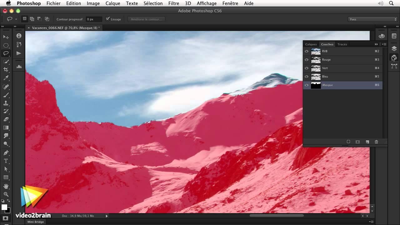 pas cher Couleurs variées meilleur pas cher Adobe Photoshop CS6 : Parfaire la sélection avec le mode Masque