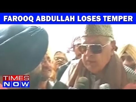 Farooq Abdullah Loses Temper When Questioned By Times Now