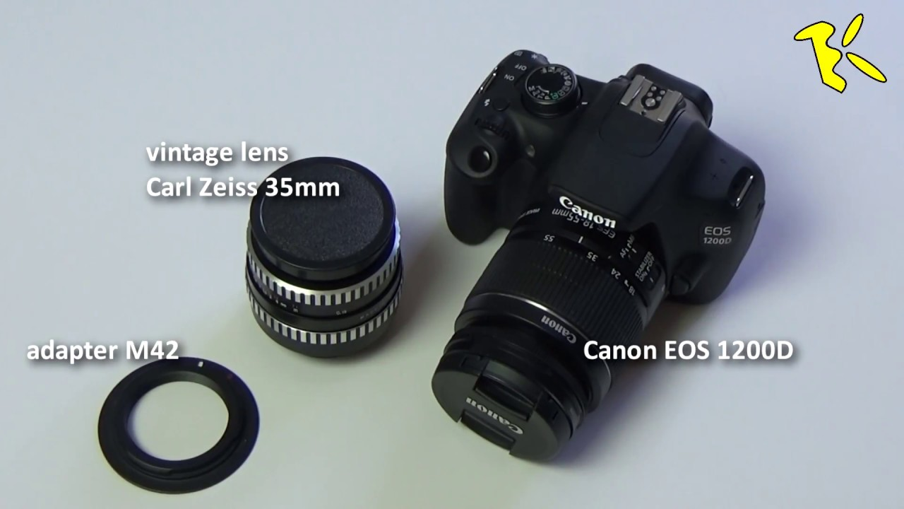 How to use Carl Zeiss vintage lens adapterM42 on Canon EOS 1200D