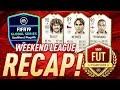 THREE NEW SUPER ICONS! | FIFA 19 WEEKEND LEAGUE RECAP #2