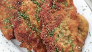 Authentic Italian Chicken Milanese Recipe // Pan Fried Chicken Cutlets