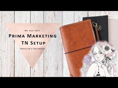 New Prima Marketing Traveler's Notebook Planner Setup 2017 - Rose Quartz Collection