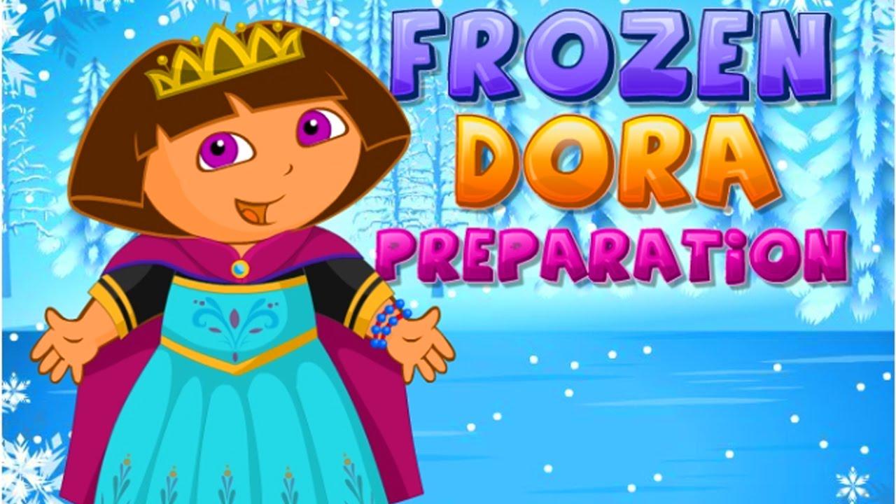 Disney princess frozen frozen dora preparation disney princess games youtube - Princesse dora ...
