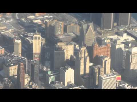 Flying Over Detroit In A Boeing 757
