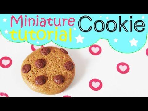 Miniature Cookie - Polymer Clay Tutorial DIY Ciasteczko z Modeliny 164