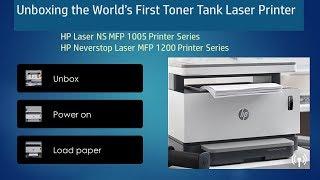 HP Neverstop Laser MFP 1200   HP Laser NS MFP 1005 : Printer Unbox, Setup & Load paper