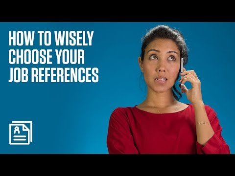 How To Choose Your Job References Wisely