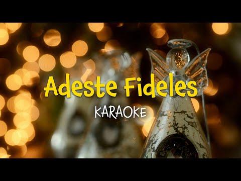 Adeste fideles (instrumental with lyrics - karaoke video) [3 verses]