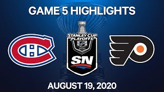 NHL Highlights   1st Round, Game 5: Canadiens vs. Flyers - Aug. 19, 2020