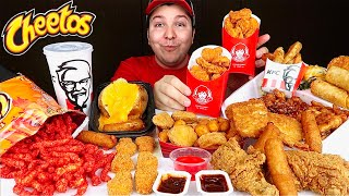 McDonald's, Wendy's, KFC Chicken, Hot Cheetos • MUKBANG