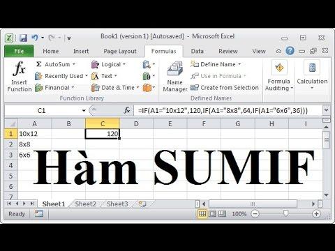 Các hàm excel thông dụng: hàm SUMIF