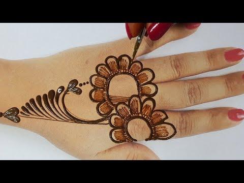 आसान मेहँदी लगाना सीखे - Shaded Mehndi Design Simple and Easy Step | BeautyZing by Step-