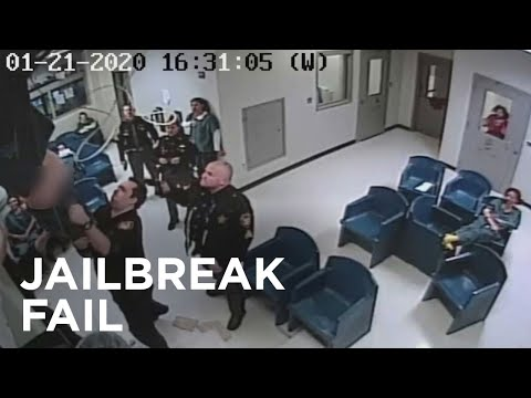 Ohio woman caught on camera falling through ceiling in jail escape fail