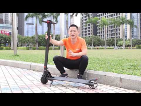 The Lightest Carbon Fiber Foldable Electric Scooter Review - e Bike For Adults