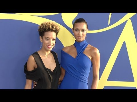 c48d2ffe016 Lais Ribeiro and Carly Cushnie at the 2018 CFDA Fashion Awards red carpet  in New York
