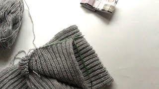 """ВЯЗАНИЕ: кромка шарфа """"английской резинкой"""" (видео по запросу)"""