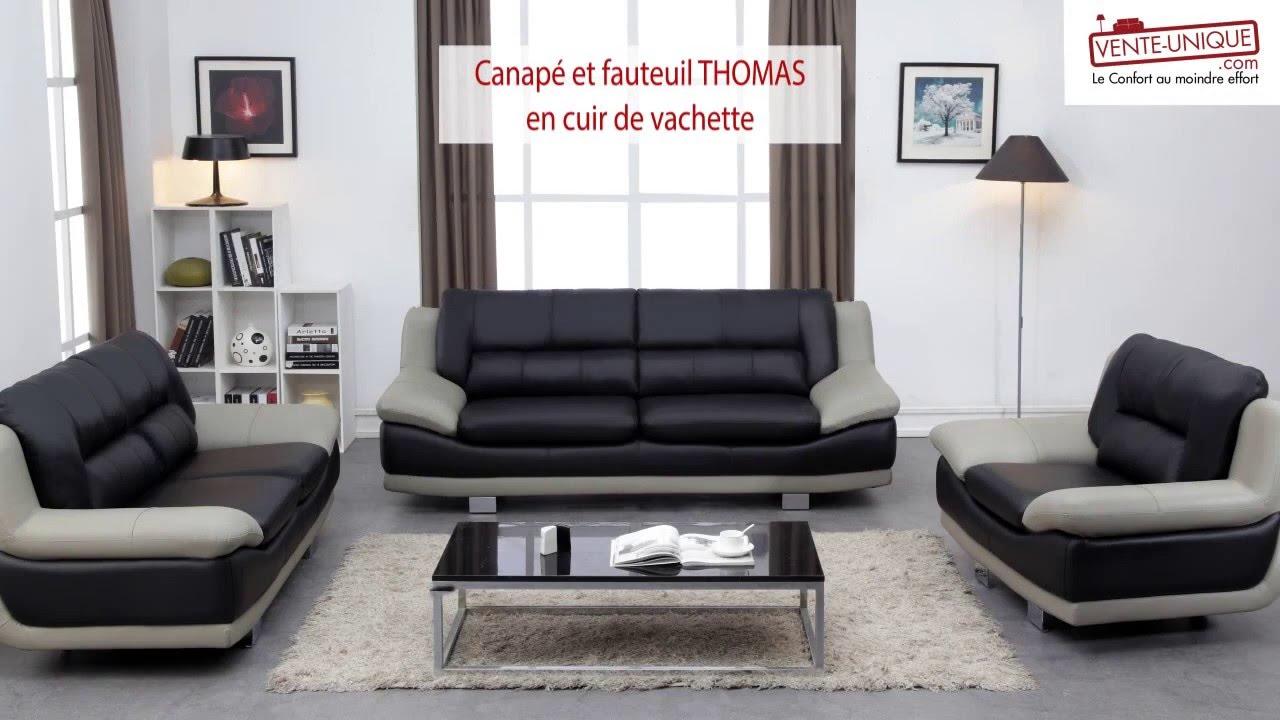 Canapé et fauteuil en cuir thomas   youtube