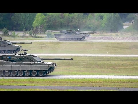 US 7th Army JMTC - Leopard 2A6 Main Battle Tanks & C1 Ariete Main Battle Tanks [1080p]