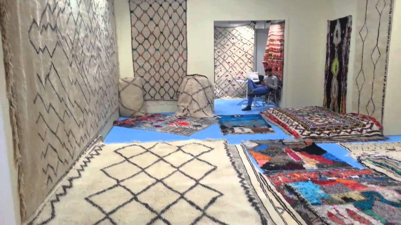 Moroccan Berber Tribal Minimalist Rugs At DOMOTEX 2015 HD.   YouTube