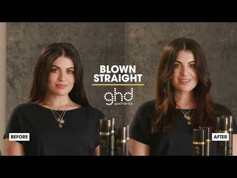 How To Create Blown Straight | Ghd Helios Hairdryer