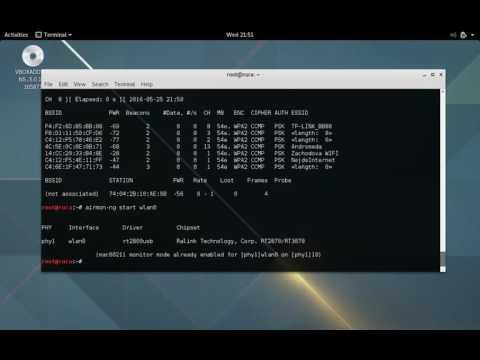Kali - Alfa AWUS036NEH - Injection & Monitor mode problem - YouTube