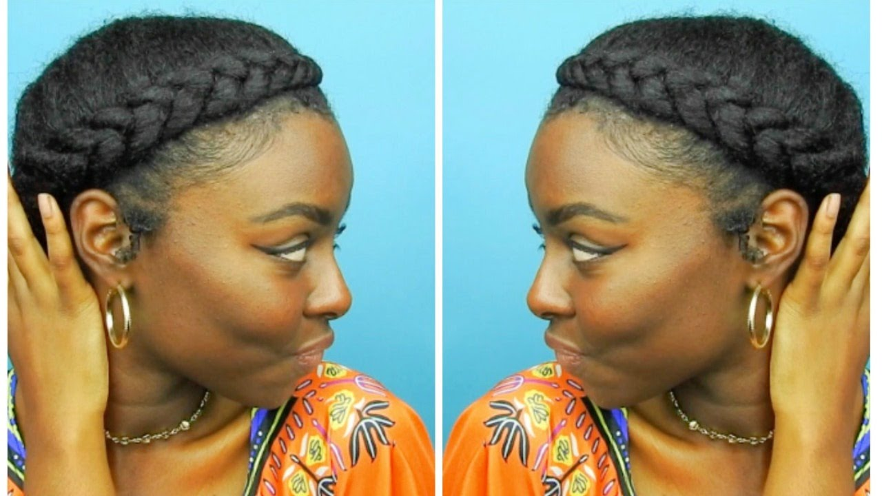 Natural Hair Protective Style Halo Goddess Braid Youtube