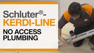 Schluter®-Systems-No Access Plumbing Demonstration with KERDI-LINE