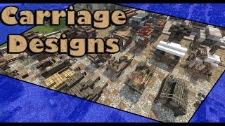 Minecraft: Medieval Covered Wagon/Carriage Designs