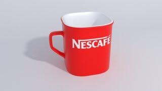 моделируем кружку nescafe (урок 3)