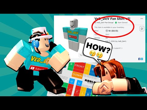 HOW TO MAKE YOUR OWN SHIRT On Roblox! (2019)