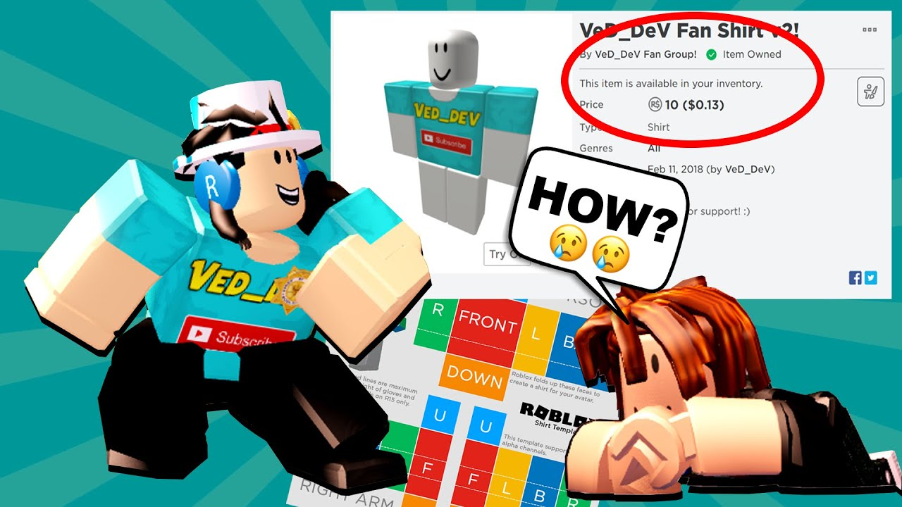 How To Make A Shirt On Roblox 2020 Making Clothes For Free On