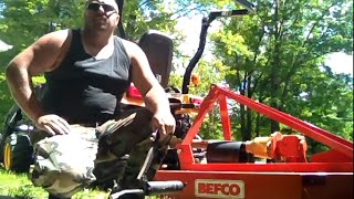 DIY 4x4 Tractor Brush Hogging the Field and Maintenance Yanmar SC2450 With A BEFCO Hog Cutter